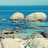 stock photo of unbelievable  - Beautiful view of the beach of Atlantic Ocean  - JPG