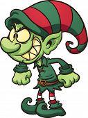 image of evil  - Evil Christmas elf - JPG