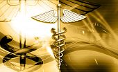 foto of sceptre  - digital illustration of 3d medical icon on colored background - JPG