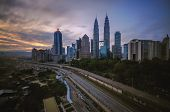 picture of klcc  - Kuala Lumpur is situated midway along the west coast of Peninsular Malaysia - JPG