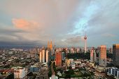 stock photo of klcc  - Kuala Lumpur is the federal capital and most populous city in Malaysia - JPG