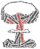 image of nuke  - Word cloud illustration related to International Day against Nuclear Tests - JPG