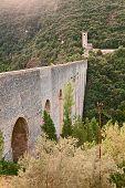 stock photo of aqueduct  - view of the Ponte delle Torri an antique bridge aqueduct  - JPG
