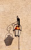 Street Lamp On Old Wall