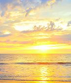 foto of luzon  - Beautiful sunset on the beach on Luzon island Philippines - JPG