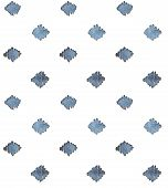 stock photo of indigo  - Indigo blue hand drawn seamless pattern - JPG