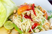 picture of green papaya salad  - Papaya Salad Thai call  - JPG