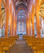foto of church interior  - The interior of Church of the Holy Ghost or Heiliggeistkirche in Heidelberg Germany - JPG