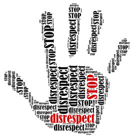 stock photo of disrespect  - Stop disrespect - JPG