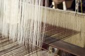 pic of thread-making  - making handmade weaving thread at industry  - JPG