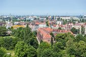 image of polonia  - Aerial view from Hail Hill in Gdansk Poland - JPG