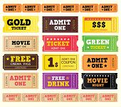 Vintage Cinema Tickets. Big Collection