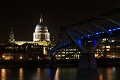 stock photo of london night  - St Paul - JPG