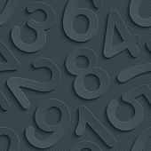 picture of grammar  - Dark gray perforated paper with cut out effect - JPG