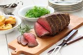 image of wagyu  - roast beef with yorkshire pudding - JPG