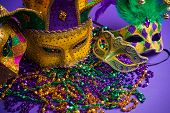 stock photo of carnivale  - Festive Grouping of mardi gras - JPG