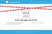 image of not found  - Page not found design with warning tapes with sign 404 error - JPG