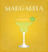 stock photo of mezcal  - Drinks List Margarita with Golden Background EPS10 - JPG