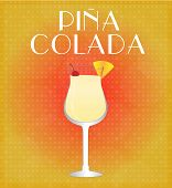 picture of pina-colada  - Drinks List Pina Colada with Red  - JPG