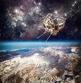 picture of orbit  - Space satellite orbiting the earth - JPG