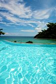 image of infinity pool  - Infinity pool vacation on Boracay Island in the Philippines - JPG