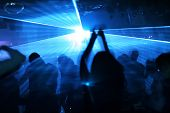 foto of rave  - Teenagers dancing in an underground club - JPG