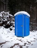 stock photo of porta-potties  - Snow - JPG