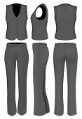 image of black pants  - Formal black trousers suit for women  - JPG
