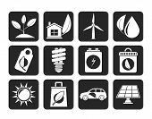pic of dustbin  - Silhouette Green and Environment Icons  - JPG