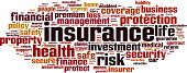 foto of precaution  - Insurance word cloud concept - JPG