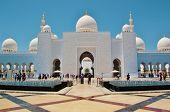 pic of emirates  - Sheikh Zayed Bin Sultan Al Nahyan Mosque in Abu Dhabi United Arab Emirates - JPG