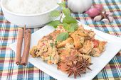 foto of loincloth  - Omelet with rice on loincloth background for family - JPG
