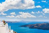 foto of landscape architecture  - White architecture on Santorini island Greece - JPG