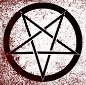 image of pentagram  - The five pointed pentagram over a white background - JPG