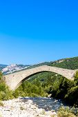 stock photo of reining  - bridge Pont de la Reine Jeanne - JPG