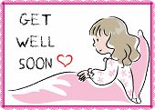 picture of get well soon  - a card with a cartoon girl about get well soon - JPG