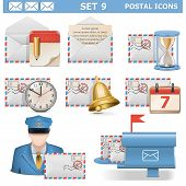 foto of postman  - Postal Icons Set 9 - JPG