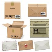 foto of crate  - Package Icons including carton box - JPG