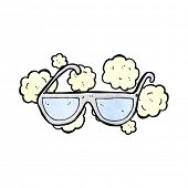 stock photo of spectacles  - cartoon dusty old spectacles - JPG