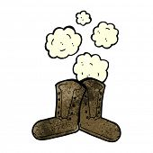 picture of work boots  - dusty old work boots cartoon - JPG