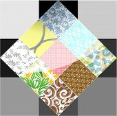 foto of tile  - Abstract element icon tile - JPG