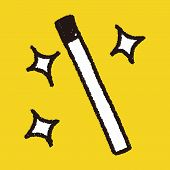 picture of magic-wand  - Magic Wand Doodle Drawing - JPG