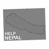 picture of word charity  - Nepal Charity POSTER with the white word Help Nepal - JPG