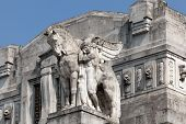 image of winged-horse  - Stone facade of the Milan - JPG