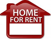 stock photo of house rent  - Illustration concept clipart for rent sign house renting vector - JPG