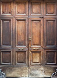 foto of torino  - Traditional old door from Torino in Italy - JPG