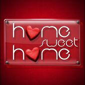 ������, ������: Home Sweet Home Glass Plate