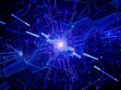 Multidimensional Blue Glowing Quantum Source poster