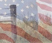 stock photo of betsy ross  - a multiple exposure photo depicting the american spirit - JPG