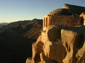 pic of jabal  - small greek orthodox chapel on the summit of mount sinai - JPG